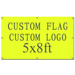 Wholesale Custom Print Design - Digital Printing High Quality Custom design custom flag 5x8ft 100% Polyester banner with metal grommets customized flag