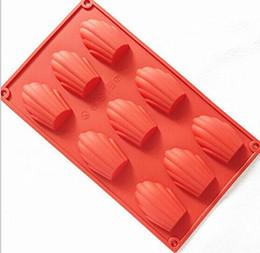 9 cavità francese Madeleine silicone torta guscio di stagno colato muffa biscotto stampo caramelle vassoio del cubo di ghiaccio da