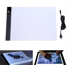 Wholesale tracing tables - LED Graphic Tablet Writing Painting Light Box Tracing Board Copy Pads Digital Drawing Tablet Artcraft A4 Copy Table LED Board