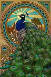 2019 pinturas de limón Mosaico decoración del hogar animal pavo real pintura diamante bricolaje punto de cruz kit rhinestone plaza llena de diamantes bordado zxh1445
