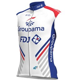 Wholesale cycle tops designs - 2018 Groupama Fdj PRO TEAM 2 DESIGN SUMMER ONLY Sleeveless Vest Bicycle Bike Wear Cycling Jersey Size XS-4XL E04