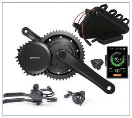 Wholesale mid drive bike motor - mid drive 48V 1000W electric bike motor kits with 48V 12Ah Li-ion Triangle battery