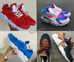Wholesale custom snow - Air Huarache Ultra ID Custom Running Shoes For Men Women,Mens Hurache Red Multicolor Navy Blue Tan Denim Huaraches Sports Huraches Sneakers