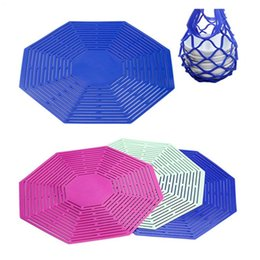 Wholesale net tables - Octagon bag Storage Bag Silicone Net Bag Red Wine Hand Basket Multifunction Heat Resistant Table Mat Hand Basket. T5I005