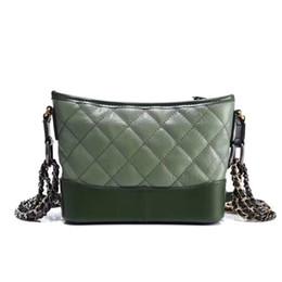 Wholesale Real Lattice - 2018 Fashion Bags Luxury green Brand new Women Luxury shoulder crossbody chain Handbag gabrielle Designer Real Leather Shoulder Bag Totes