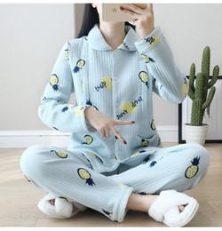 3635f4e48 Alimentación de ropa de maternidad Conjunto de 2 piezas Mujeres Homewear  Ropa de dormir de invierno Ropa de dormir Pijamas de maternidad Tops Ropa  de ...