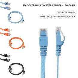 Câble réseau LAN de catégorie 6 plate CAT6 Ethernet RJ45 Câble de raccordement UTP 1M / 3M Utile ? partir de fabricateur