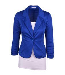 Canada Mode Femmes Costume Blazer Couleur Bonbons Blazers Veste manteaux Coton Spandex OL Veste Outwear 19 Couleur 6 Tailles Feminino Manteau Costumes Offre