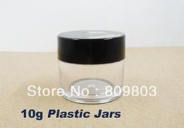 Wholesale Clear Decorative Bottles - Wholesale- Freeshipping- 10g Clear Round Plastic Bottles Jars   Nail Art Decorative Storage 10pieces   lot