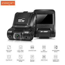 Wholesale Hid Infrared - ZEEPIN Car DVR Car Hidden Dash Cam 2.45 Inch 1080P 170 Degree DVR Infrared Night Shoot WDR Wifi G-Sensor Driving Recorder Camera