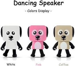 Wholesale Cut Mini Hot - 2018 Mini Super Cut Smart Dancing Robot Dog Bluetooth speaker Multi portable Bluetooth Speakers New years Christmas Gift For hot sale.