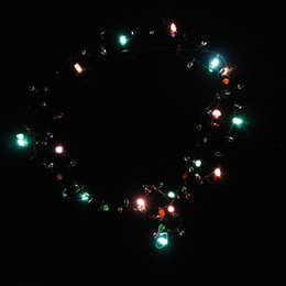 Wholesale Led Light Up Necklace - Fashion Luminous Necklaces For Christmas Halloween Party Decoration LED Light Up Necklace Plastic Flashing Beaded Lights Pendant 3 8za B