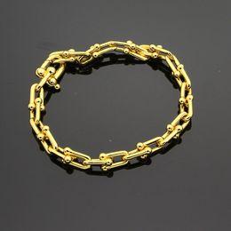 grossistas pulseiras magnéticas para homens Desconto Hot marca u-tipo titanium aço pulseira de ouro 18k rosa pulseira de prata com presente avançado conjunto adequado para presentes