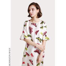 882a2db6dc36 Vestido de seda floral verão vestidos maxi praia jurken robe femme ete 2018  sexy longo boho boêmio grande plus size borboleta branca