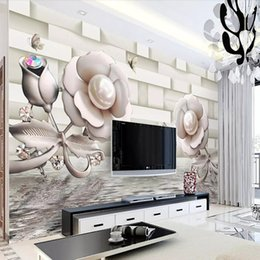Elegant Wallpaper For Living Room UK   TV Background Wall Paper European  Non Woven Fabric