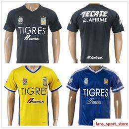 1194f9e457f 2017 2018 Mexican League Football Club Tigres UANL Soccer Jerseys GIGNAC  GUERRON SOBIS DUENAS Blank Customized Name Home Away Football Shirt