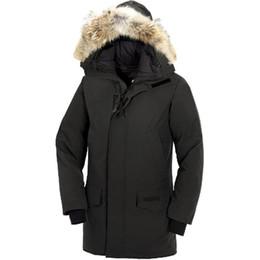 2020 hombres de parkas de piel con capucha DHL Freeshipping Marca Parka abajo de la chaqueta de los hombres Parka invierno cálido abrigos gruesos cuello de piel con capucha DownJackets hombres de parkas de piel con capucha baratos