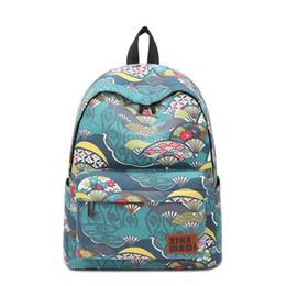 Wholesale Japan Style Canvas School Bags - Japan and Korean Style national school canvas backpack bags new arrival 2018 designer school bags large capacity tarvel backpack