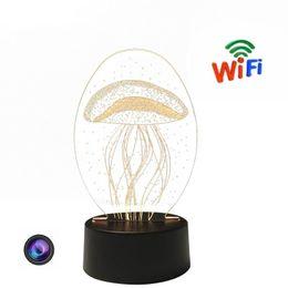 Lámpara p online-Nueva Mesa de Luz HD 1080 P Mini Cámara 3D Lámpara de Acrílico Cámara WiFi Remote Video Recorder Seguridad para el Hogar Mini DV P2P Cam Envío Gratis