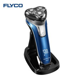 Wholesale Wash Systems - Flyco FS375 Professional Electric Shaver with Smart Washing Alarm Waterproof Smart Anti-Clip System 3D Floating Heads for Men