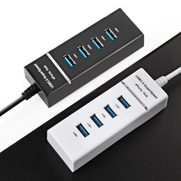 Wholesale Pc Computer Accessories - Super Speed USB 3.0 Hub 4 Port 5Gbps Micro USB Hub High Quality Hub USB Splitter Adapter For PC Computer Peripherals Accessories