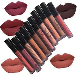 Губы коричневые онлайн-2018 New Women  Waterproof Batom Tint Lip Gloss Red Velvet True Brown Batom Matte Lipstick Easy to wear Long Lasting