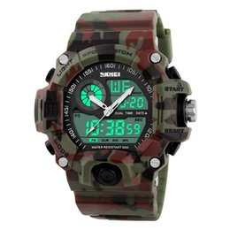 Wholesale Men S Watch Brands - S-Shock Men Sports Watches LED Digital Watch Fashion Brand Outdoor Waterproof Rubber Army Military Watch Relogio Masculino
