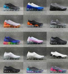 Wholesale Tpu Sports Shoes - 2018 Vapormax 2 Running Shoes For Men&Women Sneakers Knitting TPU Fashion outdoor Athletic Sport Shoe Hiking Jogging Walking trainers