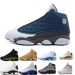 Wholesale Hologram Bands - [With Box]Cheap Famous Trainers 13 XIII new 13s Hologram Men's Sports Basketball Shoes Barons (white black grey teal) US 8-13