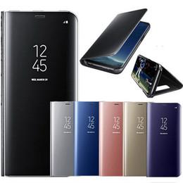 2019 teléfono original de lujo Original Smart Mirror Flip Funda de cuero para Samsung Galaxy Note 10 Plus S10 5G S10 PLUS S10E Luxury Plating Clear Window Phone Case rebajas teléfono original de lujo