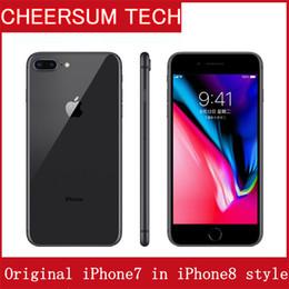 "Wholesale Original Apple Iphone 3g - Original Apple iphone 7 in iphone 8 style Case Unlocked iPhone7 Phone 1.2MP Two Camera 4G LTE 5.5"" Quad Core A10 3G RAM 32GB ROM iphone8"