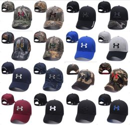 Wholesale girls sunhats - Brand Under Baseball Ball Cap Snapbacks Unisex Men Women Visor Caps Hat Armor Sport Hip-hop Cap Camo Adjustable Casquette Sunhat 35 Colors