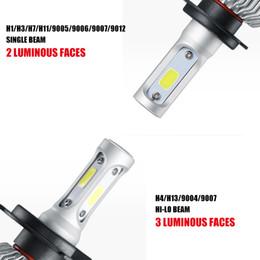 Wholesale Audi Led Headlamp - H4 H7 H11 H1 H3 9005 9006 COB LED Car Headlight Bulbs Hi-Lo Beam 72W 8000LM 6500K Auto Headlamp Fog Light Bulb