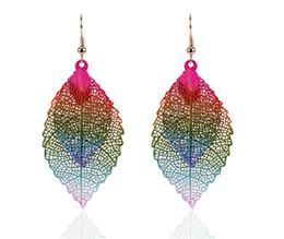 Wholesale double tassel earrings - Double leaf Long Tassel Earrings Fringe Earrings for Women Luxury Earrings Rhinestone Tassel Dangle #117