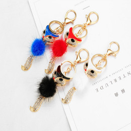 Wholesale jewelry foxes - girls popular fine jewelry sweater feather rhinestone fox pendant necklace sweater fashion fox key ring animals key chain