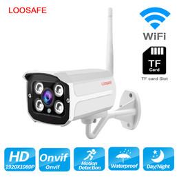 2019 cámaras de seguridad ip con cable LOOSAFE impermeable cámara de seguridad IPTV CCTV IP al aire libre 1080P HD ONVIF inalámbrico con conexión de cable cámara P2P 2MP CCTV al aire libre rebajas cámaras de seguridad ip con cable