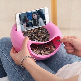 fruit drying NZ - Hot Cell Phone Tablet Desk Stand Holder Creative Shape Bowl Perfect For Seeds Nuts And Dry Fruits Storage Box mounts retail or wholesale