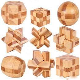 9 PC Nuovo Design eccellente IQ Rompicapo 3D in legno Interlocking Burr Puzzle Gioco Giocattolo per bambini da fiammiferi dentellare di plastica all'ingrosso fornitori