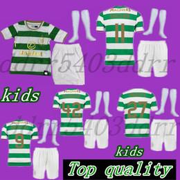Wholesale celtic kits - Kids set 2017 2018 Scotland Celtic Soccer Jersey 17 18 Home away McGREGOR SINCLAIR GRIFFITHS LUSTIG BROWN youth Top qualitchild kits shirt