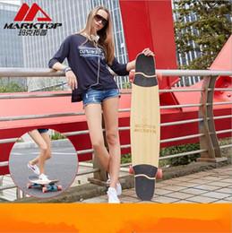 Argentina Al por mayor-Marktop Professional Longboard Deck Dancing Board Walking BambooCanadian Maple Material mixto Long Skateboard 9.5