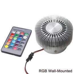 AC85-265V 3 W Led Duvar Lambası Alüminyum Yüksek Güç LED Çip RGB Işık KTV Bar Restoran Kahve Dükkanı için Uzaktan Kumanda Ile nereden