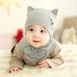 c51b52cabfe 2018 Hot Sale Unisex Baby Hat + Scarf Cap Cotton 0-6M Cute Animal Pattern  Newborn Photography Props Newborn Baby Accessories