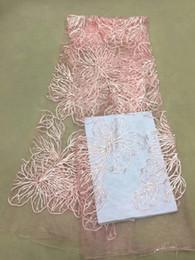 2019 telas bordadas de lujo tela de encaje de lentejuelas de lujo rosa tela de encaje africano de alta calidad 2018 tela de encaje francés bordado de tul envío gratis rebajas telas bordadas de lujo