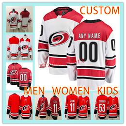 dce25aa31 Custom CAROLINA HURRICANES MEN WOMEN KIDS Hockey Jersey any name number 11  Eric Staal 20 Sebastian Aho 53 Jeff Skinner hockey jersey