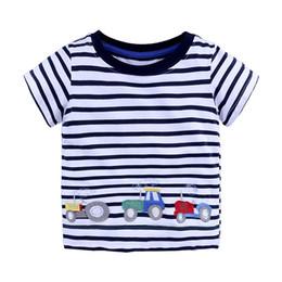 Argentina Camiseta de los muchachos de algodón de dibujos animados animales de impresión del coche ropa de verano Niños ropa de los niños camiseta de 7 colores envío gratis supplier children cars cartoon clothing Suministro