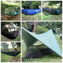 Swing aereo online-Paracadute in tessuto zanzariera amaca all'aperto campeggio marzo anti-zanzara altalena tenda tenda amaca per escursioni a piedi CCA9789 20 pz