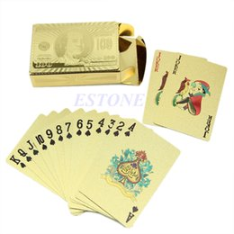 Wholesale Play Boy Men - Golden Game Poker Table Card Games Playing Travel Special Gift For Women Men