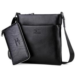 Uomini kangaroo a tracolla online-2017 nuovo arrivo di alta qualità in pelle Kangaroo messenger bag di marca sacchetto di spalla di modo borse crossbody per uomo