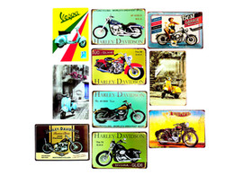 Wholesale pictures metal homes - Mini motorcycle harley davidson motorcycle best garage Metal Painting Iron Tin Sign Retro Fashion Bar Ktv Home Bedroom Decor Random picture