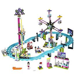 Wholesale Building Blocks Electric Toy - Compatible with Legoing Friends 41130 model 01008 1024pcs building blocks Amusement Park Roller Coaster figure toys for children
